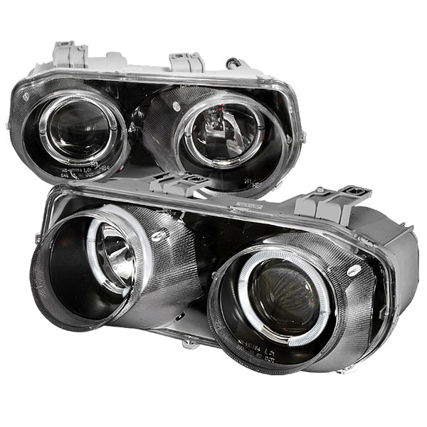 Spec-D Tuning LHP-INT94JM-KS: Spec-D 94-97 Integra Projector Headlights - Black
