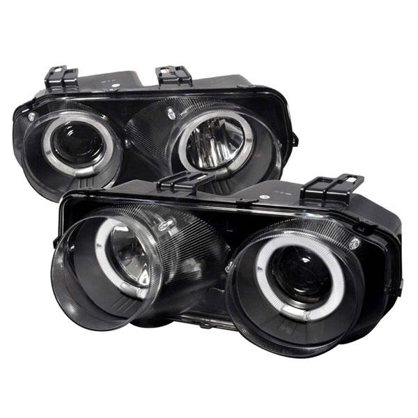 Spec-D Tuning LHP-INT94JM-WJ    Acura Integra 2/4 Doors Dual Halo Projector Headlights Black, 94-97