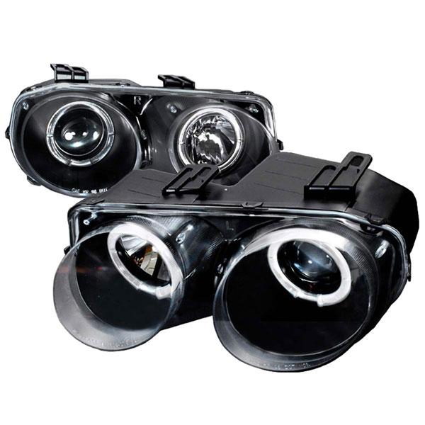 Spec-D Tuning LHP-INT98JM-KS | Spec-D Integra Projector Headlights - Black; 1998-2001