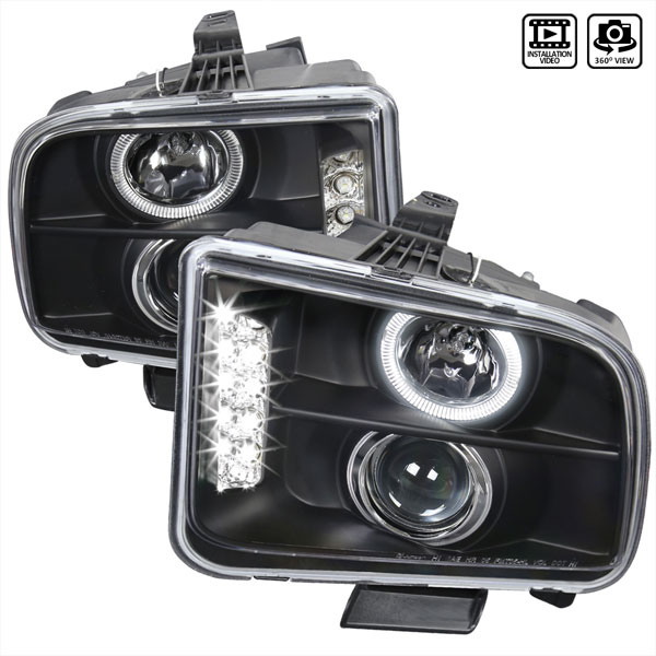 Spec-D Tuning (LHP-MST05JM-TM) Spec-D 05-09 Ford Mustang Projector Headlights - Black V6