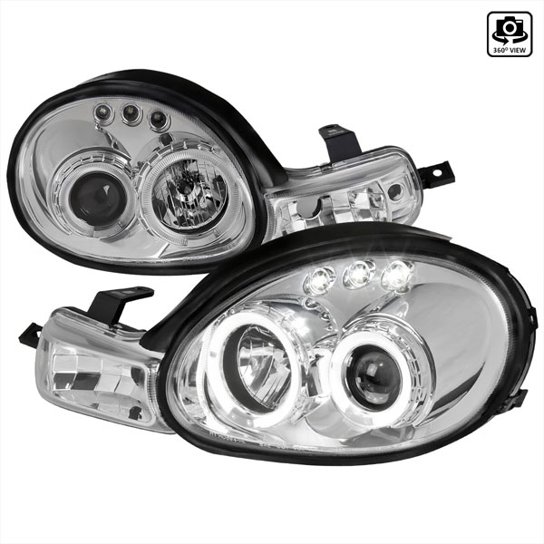 Spec-D Tuning LHP-NEO00-TM: Spec-D 00-02 Dodge Neon Projector Headlights 1p