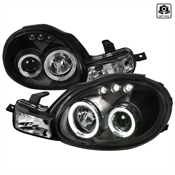 Spec-D Tuning LHP-NEO00JM-TM   Spec-D Dodge Neon Projector Headlights 1p; 2000-2002