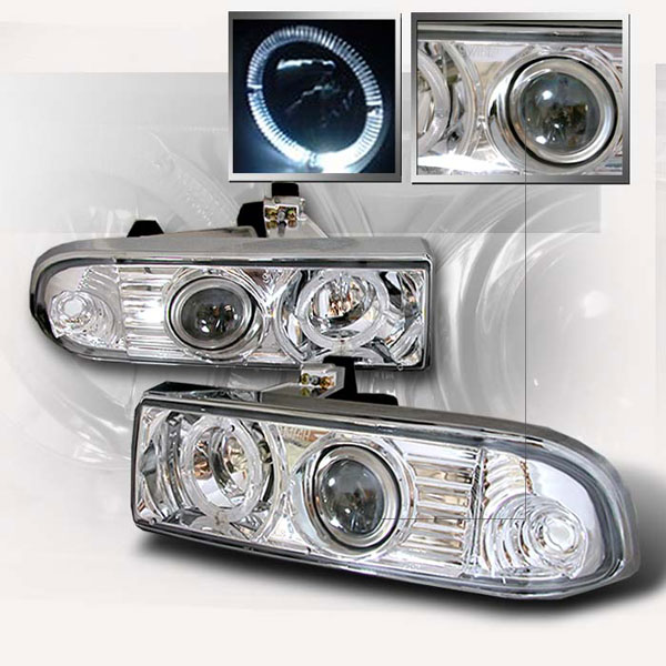 Spec-D Tuning LHP-S1098-KS: Spec-D 98-01 S10 Projector Headlights - Chrome