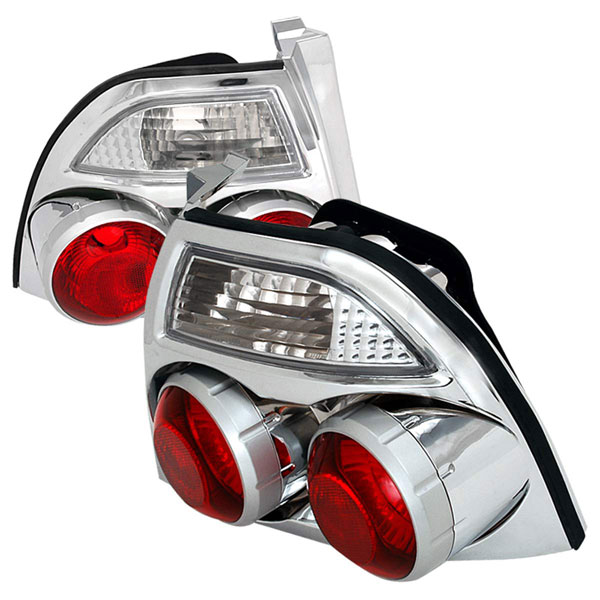 Spec-D Tuning LT-ACD94-GN: Spec-D 94-95 Accord Jdm Skyline Taillights - Chrome (lt-acd94-gn)