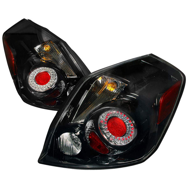 Spec-D Tuning LT-ALT074JMLED-DP: Spec-D 07-09 Nissan Altima 4dr Led Taillights Black Rnd (lt-alt074jmled-dp)
