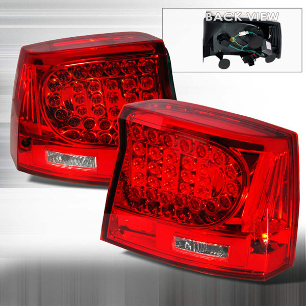 Spec-D Tuning LT-CHG05RLED-KS: Spec-D 05-07 Dodge Charger Led Taillights (lt-chg05rled-ks)