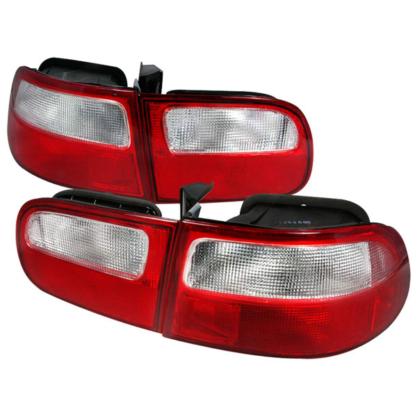 Spec-D Tuning LT-CV923RPW-DP: Spec-D 92-95 Civic 3d Red Clear Taillights (lt-cv923rpw-dp)
