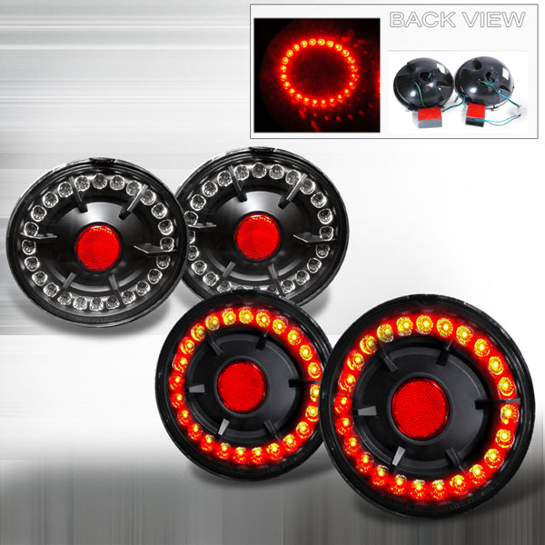 Spec-D Tuning LT-CVET05JMLED-KS: Spec-D 05-09 Corvette L.e.d Taillights (lt-cvet05jmled-ks)
