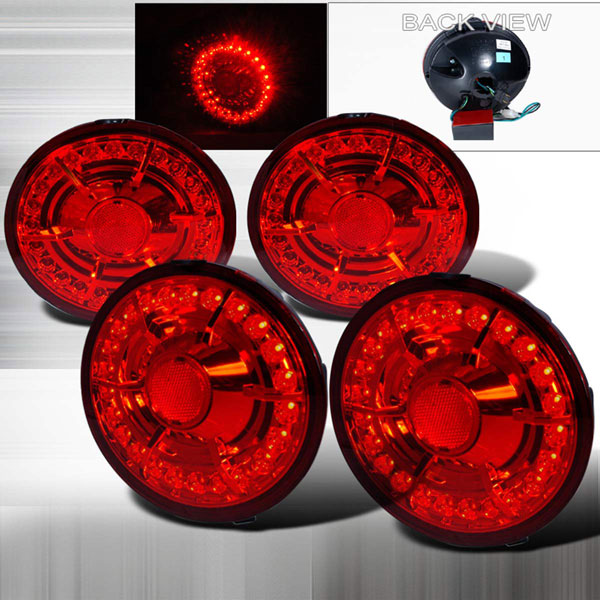 Spec-D Tuning LT-CVET05RLED-KS: Spec-D 05-09 Corvette Led Taillights - (lt-cvet05rled-ks)