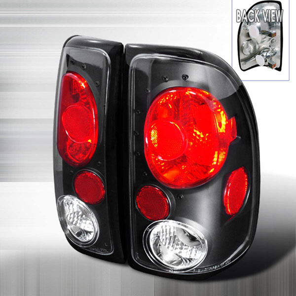 Spec-D Tuning LT-DAK97JM-KS: Spec-D 97-04 Dodge Dakota Taillights - Jdm Black (lt-dak97jm-ks)