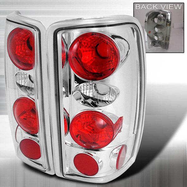 Spec-D Tuning LT-DEN00-KS | Spec-D Chevrolet Suburban / Tahoe & Gmc Yukon / Denali Taillights Chrome On Chrome Euro Altezza; 2000-2006