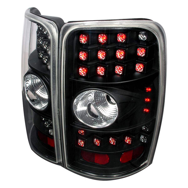 Spec-D Tuning LT-DEN00BCLED-WJ: Spec-D 00-06 Suburban Tahoe Yukon / Denali 01-06 Led Taillight Black with Clear Lens with LEDs