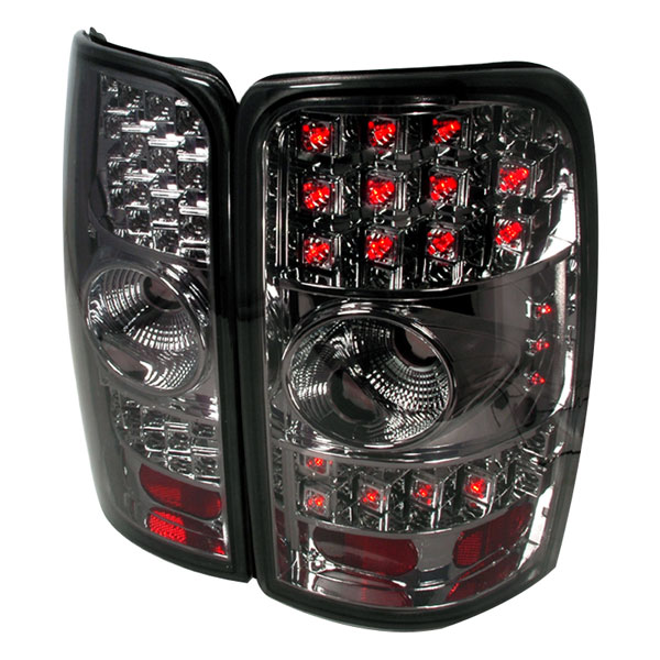 Spec-D Tuning LT-DEN00CGLED-WJ: Spec-D 00-06 Suburban Tahoe Yukon / Denali 01-06 Led Taillights Chrome with Smoke Lens with LEDs