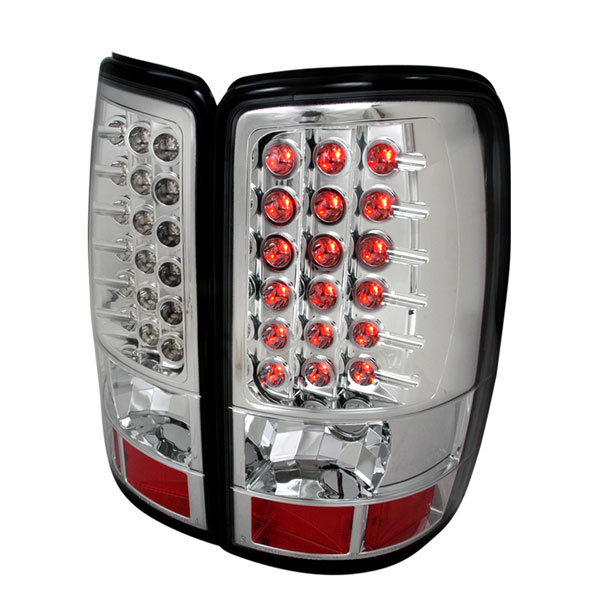 Spec-D Tuning LT-DEN00CLED-TM | Spec-D Suburban Tahoe Yukon / Denali Led Taillights Chrome Led; 2000-2006