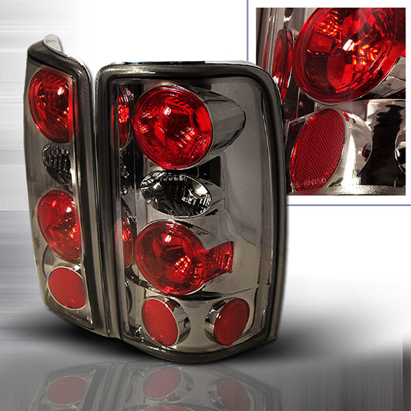 Spec-D Tuning LT-DEN00G-KS | Spec-D 00-06 Denali / Tahoe Taillights Smoked Euro Altezza