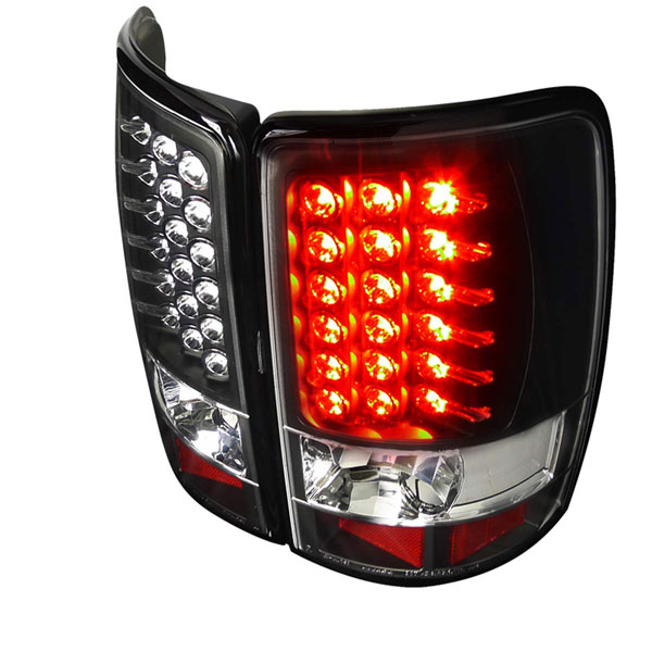 Spec-D Tuning LT-DEN00JMLED-TM: Spec-D 00-06 Suburban Tahoe Yukon / Denali 01-06 Led Taillights Black Surrounds With Chrome Leds