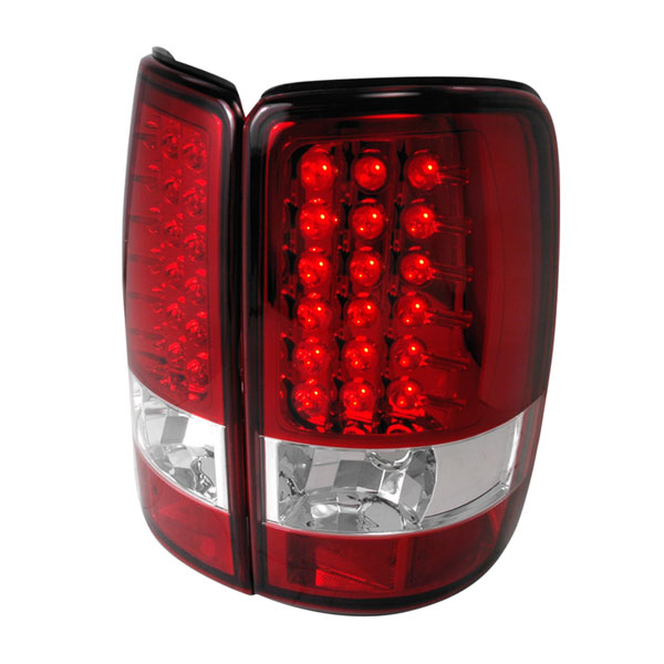 Spec-D Tuning LT-DEN00RLED-TM: Spec-D 00-06 Suburban Tahoe Yukon / Denali 01-06 Led Taillights Red LED with Red Lens