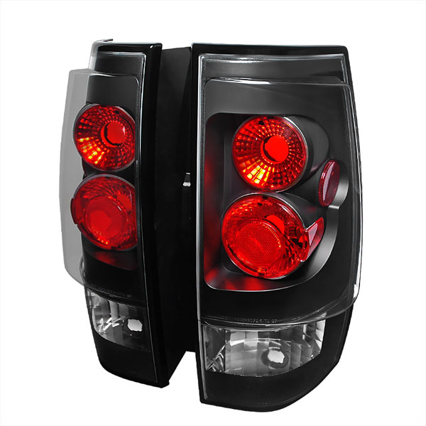 Spec-D Tuning LT-DEN07JM-TM |  Gmc Denali Altezza Tail Light Black; 2007-2010