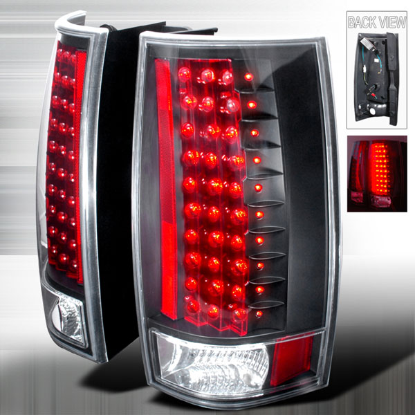 Spec-D Tuning LT-DEN07JMG3LED-KS: Spec-D 07-10 Tahoe / 07-09 Suburban / 07-09 Yukon / Denali Led Black Taillights