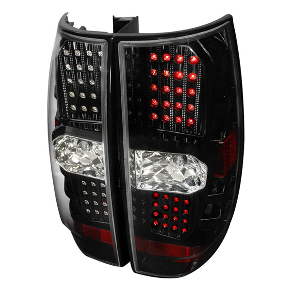Spec-D Tuning LT-DEN07JMLED-DP |  Gmc Denali Led Tail Lights Black, 07-10