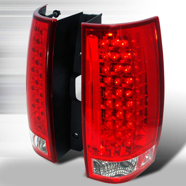 Spec-D Tuning LT-DEN07RG3LED-KS | Spec-D Tahoe / Suburban / Yukon / Denali Led Red Lens Taillights; 2007-2009