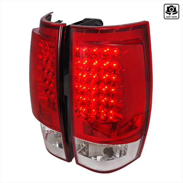 Spec-D Tuning LT-DEN07RLED-TM |  Gmc Denali Led Tail Lights Red, 07-10