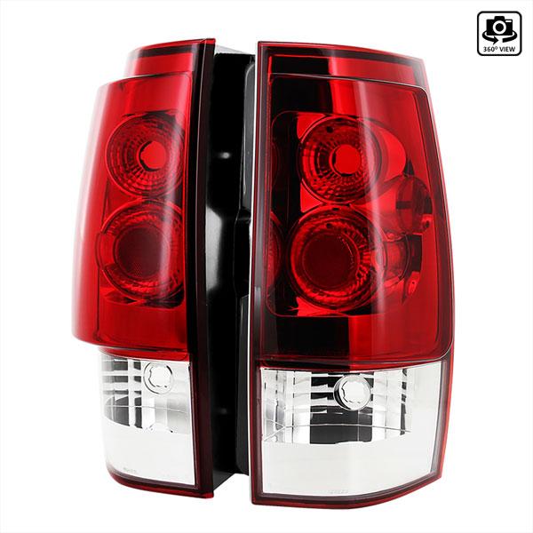 Spec-D Tuning LT-DEN07RPW-TM |  Gmc Denali Red Clear Tail Light; 2007-2010