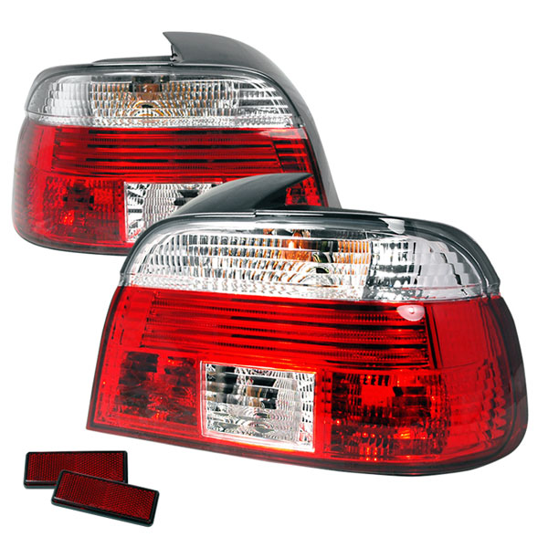 Spec-D Tuning (LT-E394RPW-APC) Spec-D 99-03 Bmw E39 4dr Taillights -Red Clear (Lt-E394rpw-Apc)