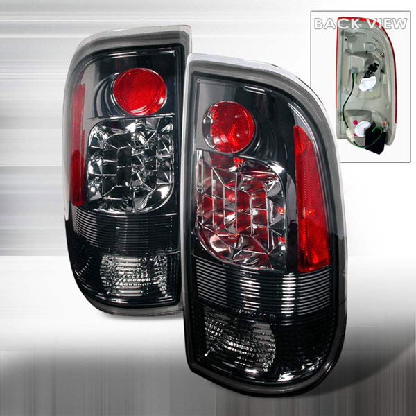 Spec-D Tuning LT-F15097GLED-KS |  Ford F350 Led Tail Lights Smoke; 1999-2007