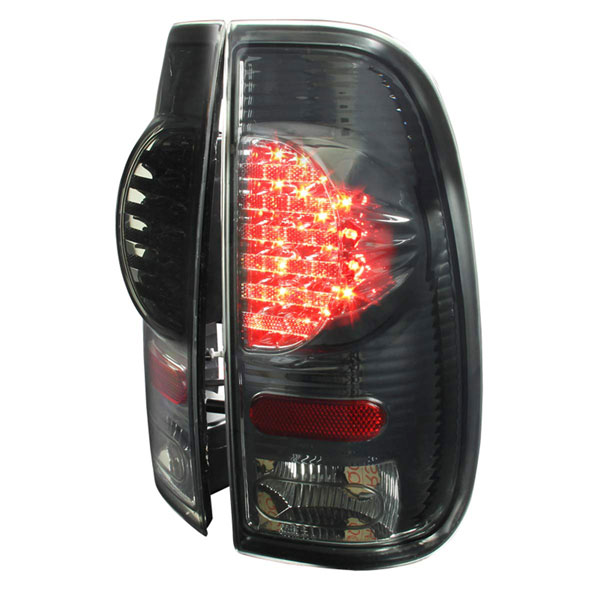 Spec-D Tuning LT-F15097GLED-V2-RS |  Ford F150 Led Tail Lights Smoked; 1997-2003