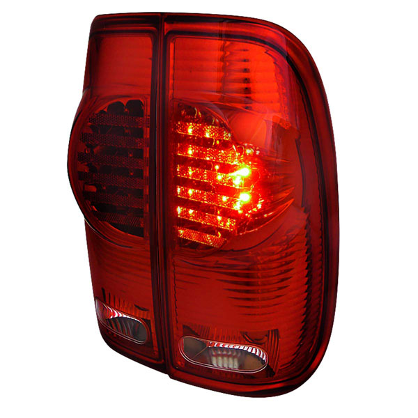 Spec-D Tuning LT-F15097RLED-RS |  Ford F150 Led Tail Lights Red; 1997-2003