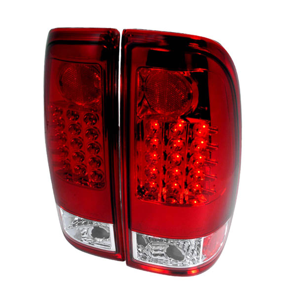 Spec-D Tuning LT-F15097RLED-TM |  Ford F250 Led Tail Lights Red, 99-07