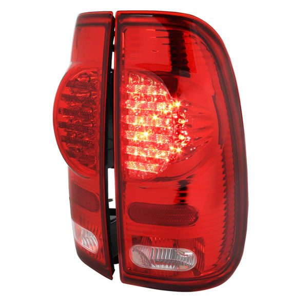 Spec-D Tuning LT-F15097RLED-V2-RS |  Ford F150 Led Tail Lights Red; 1997-2003