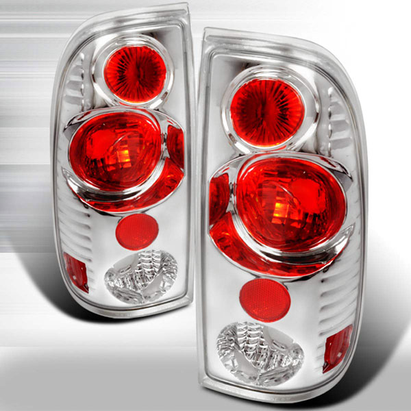 Spec-D Tuning LT-F15097V2-KS |  Ford F350 Altezza Tail Lights Chrome; 1999-2007