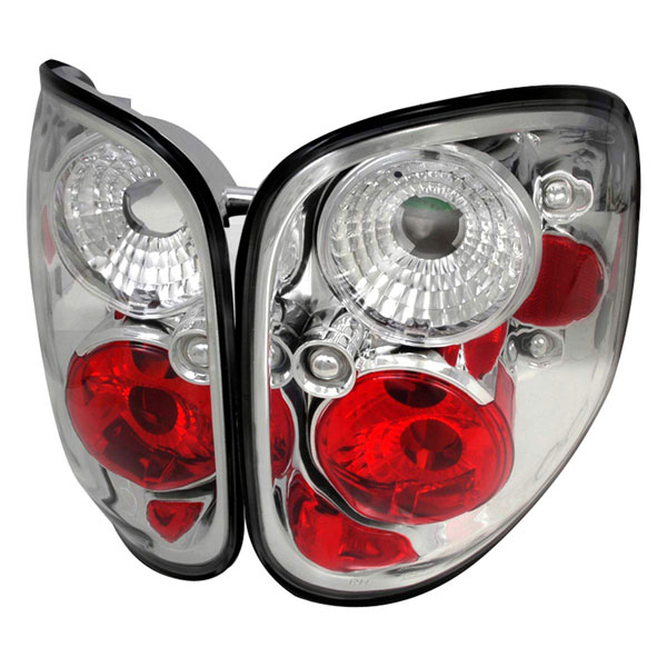 Spec-D Tuning LT-F150F97-TM |  Ford F150 Altezza Tail Light Chrome; 1997-1997