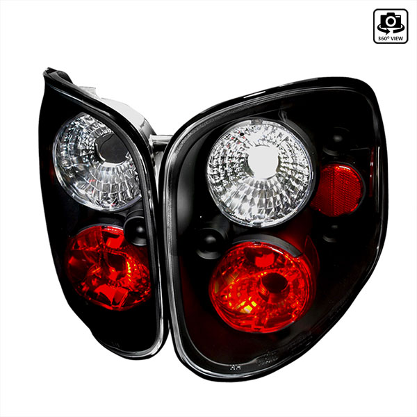 Spec-D Tuning LT-F150F97JM-TM |  Ford F150 Altezza Tail Light Black; 1997-1997