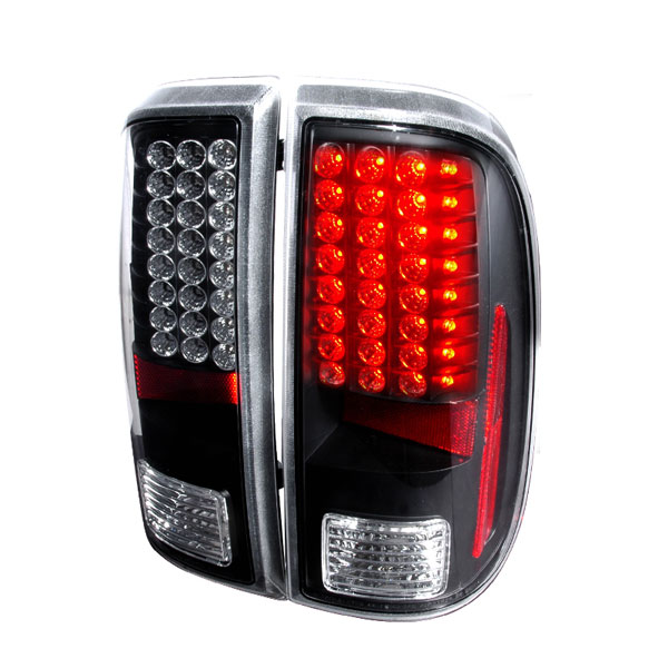 Spec-D Tuning LT-F25008JMLED-KS |  Ford F250 Led Tail Lights Black; 2008-2011