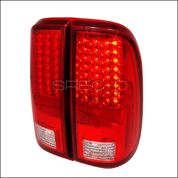 Spec-D Tuning (LT-F25008RLED-KS)  Ford F250 Led Tail Lights Red, 08-11