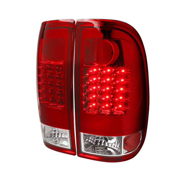 Spec-D Tuning LT-F25008RLED-TM |  Ford F250 Red Led Tail Lights; 2008-2016