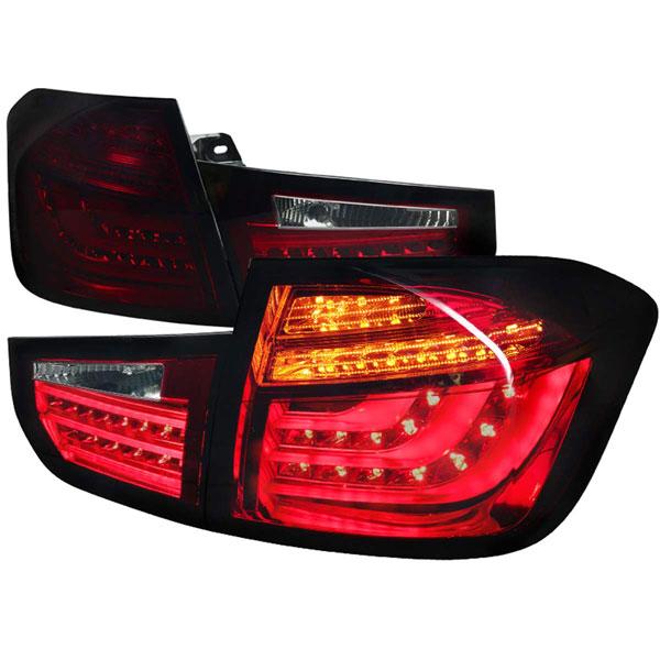 Spec-D Tuning LT-F3013RGLED-V2-APC    Bmw F30 Red Smoke Led Tail Lights; 2013-2015