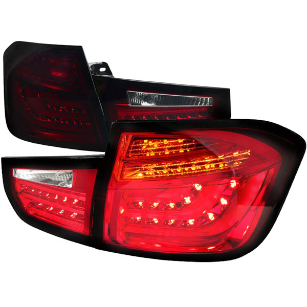 Spec-D Tuning LT-F3013RLED-V2-APC |  Bmw F30 Red Led Tail Lights; 2013-2015