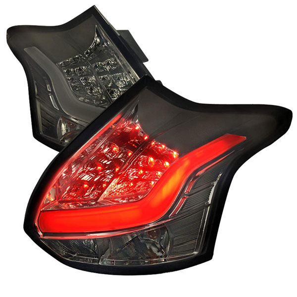Spec-D Tuning (LT-FOC125GLED-TM)  Ford Focus 5 Door Led Tail Lights Smoke, 12-14