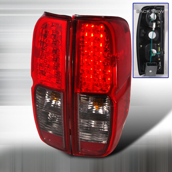 Spec-D Tuning LT-FRO05RGLED-KS |  Nissan Frontier Led Tail Lights Red Smoke; 2005-2012