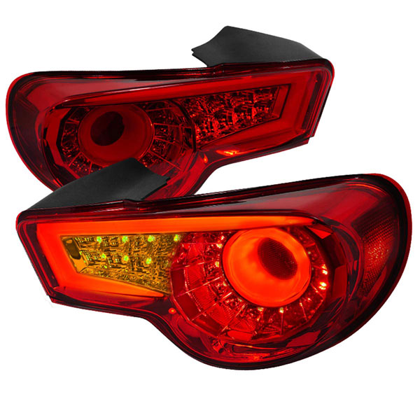 Spec-D Tuning LT-FRS12RLED-TM |  Scion Frs Led Tail Lights Red, 13-Up