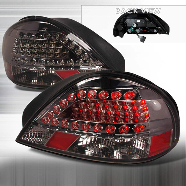 Spec-D Tuning LT-GAM99GLED-KS: Spec-D 99-05 Pontiac Grand Am Led Taillights (lt-gam99gled-ks)