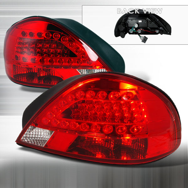 Spec-D Tuning LT-GAM99RLED-KS: Spec-D 99-05 Pontiac Grand Am Led Taillights (lt-gam99rled-ks)