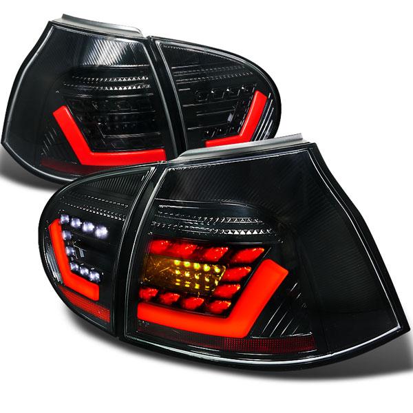 Spec-D Tuning LT-GLF05JM-F2-APC    Volkswagen Golf Gti V Led Tail Lights Black, 05-09