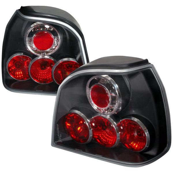 Spec-D Tuning LT-GLF93JM-TM |  Volkswagen Golf Altezza Tail Light Black, 93-98