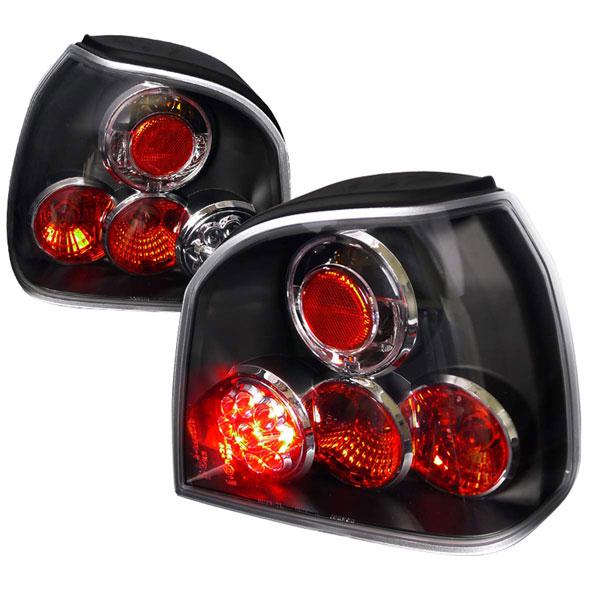Spec-D Tuning LT-GLF93JMLED-TM |  Volkswagen Golf Led Tail Lights Black Housing, 93-98