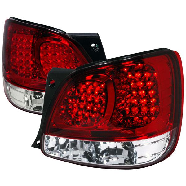Spec-D Tuning LT-GS30098RLED-TM |  Lexus Gs300 Led Tail Lights Red; 1998-2005